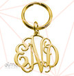 Celebrity Monogram Keychain - 18k Gold Plated