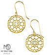My Only One – Maze Mandala 18K Gold Plated Sterling Silver with Crystal Stone Earrings